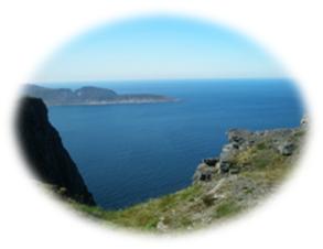 Knivskjelodden - Europas nordligste punkt - kan ses fra Nordkap :-)
