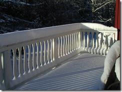 Sne på terrassen