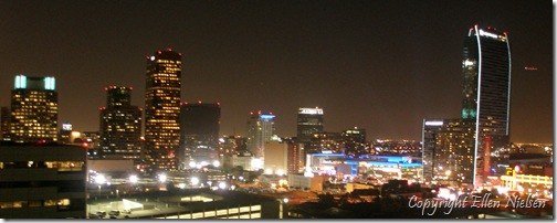 Downtown LA by night