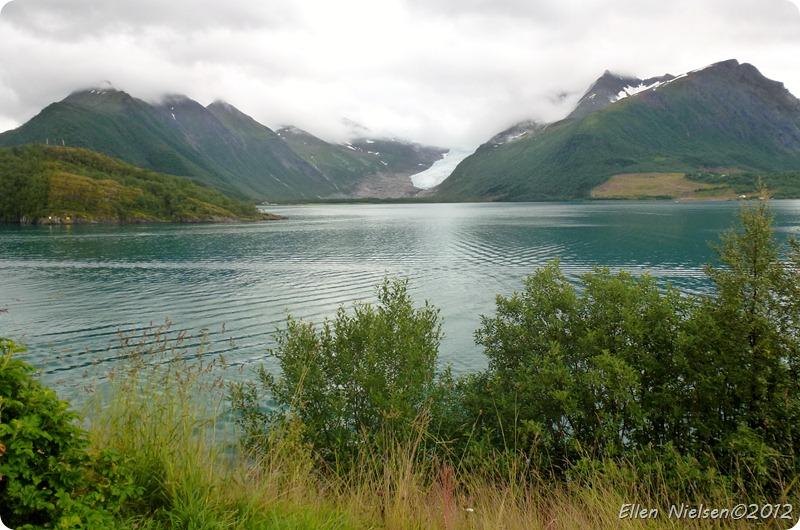 En udløber af Svartisen, Norge
