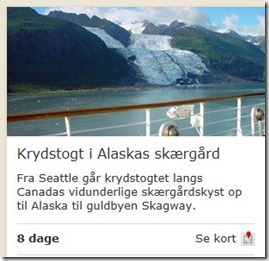 Krydstogt Alaska