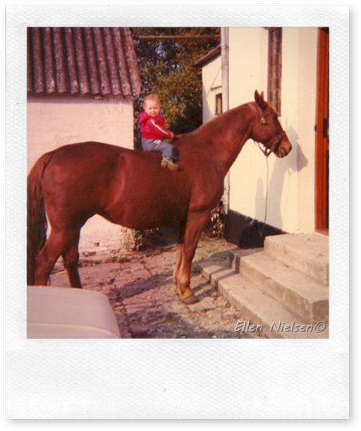 Charlotte højt til hest
