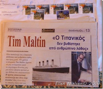 Tim i en græsk avis