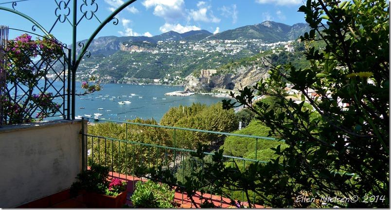Udsigten fra vores terrasse på Hotel Sole
