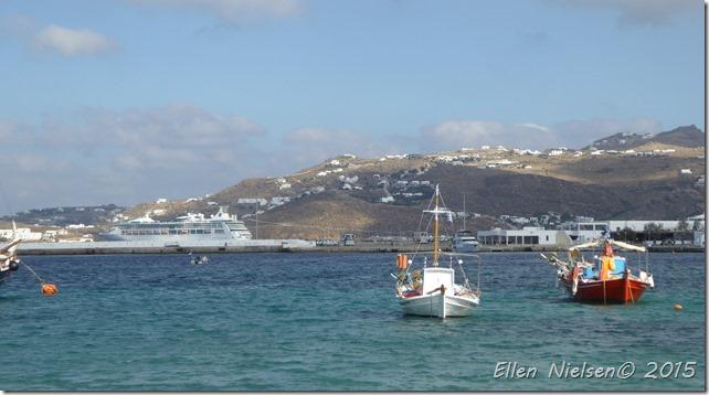 Havnen i Mykonos by