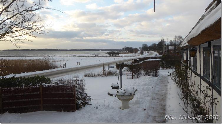 Den første sne i Den Stråtækte