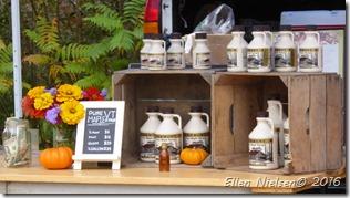 Ahornsirup sælges overalt  i Vermont