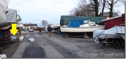Vores båd på vinteropbevaring