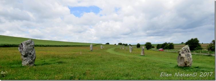 Avebury Stonecircle - meget meget stor radius