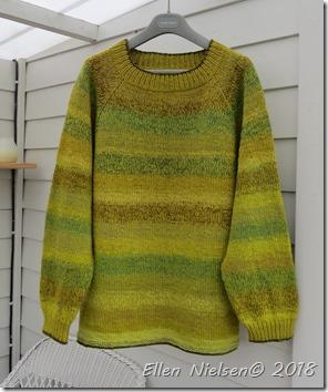"""""""Restesweater"""" - tagrørsfarvet garn"""