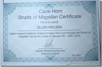 Certifikatet - Kap Horn