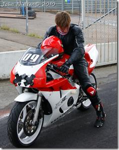 Pernille på motorcykel 2010