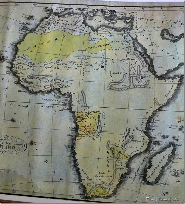 Afrika omkring 1825